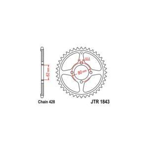 Zębatka napędowa JT tył JTR1843.54