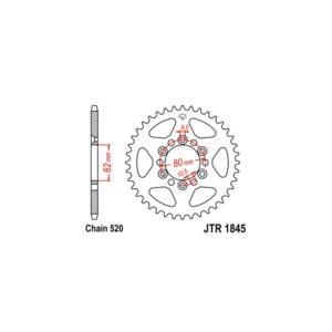 Zębatka napędowa JT tył JTR1845.37