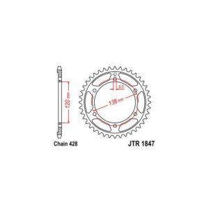 Zębatka napędowa JT tył JTR1847.48