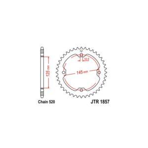 Zębatka napędowa JT tył JTR1857.45