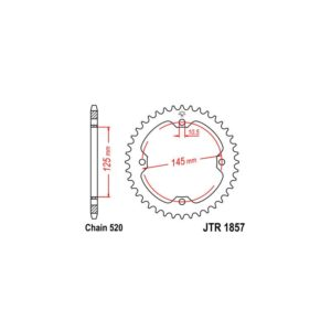 Zębatka napędowa JT tył JTR1857.47