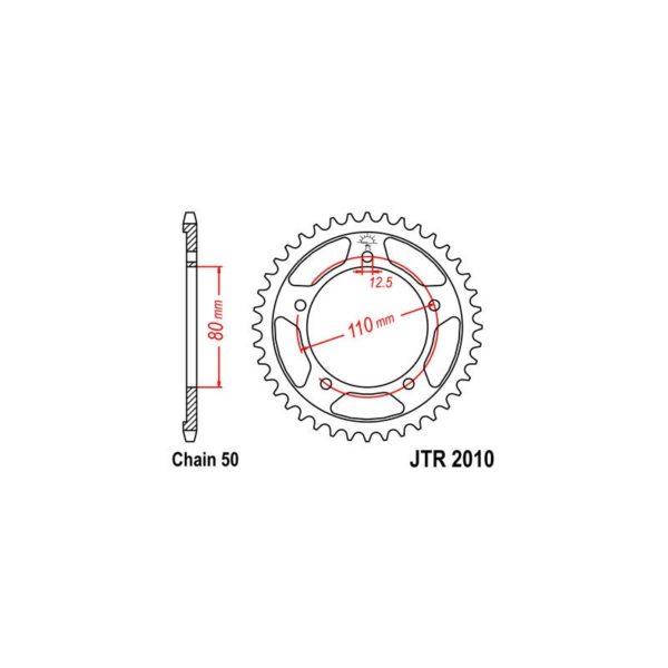 Zębatka napędowa JT tył JTR2010.45