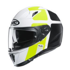 Kask HJC I70 Prika white/black/flo yellow
