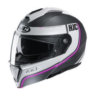 Kask HJC I90 Davan black/white/pink