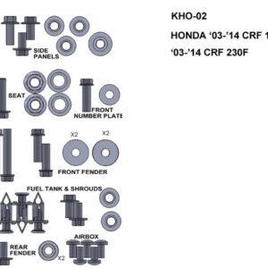 Zestaw śrub Keiti do Honda CRF150F/CRF230F 2003-2014